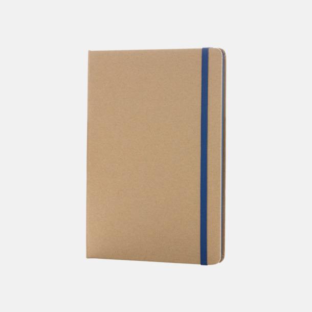 Natur / Blå Anteckningsbok av återvunnet papper med reklamtryck