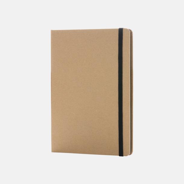 Natur / Svart Anteckningsbok av återvunnet papper med reklamtryck
