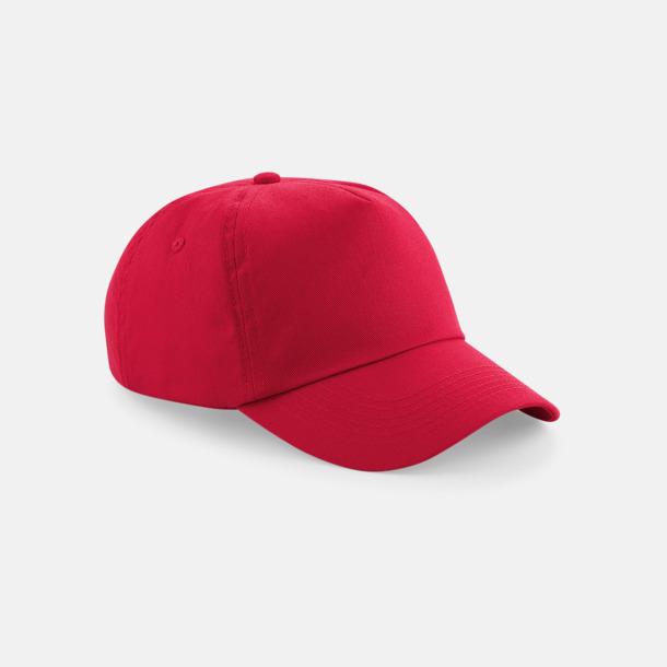 Classic Red (vuxen) Bomullskepsar för vuxna & barn - med reklamlogo