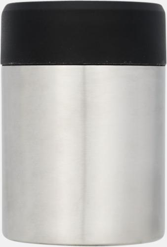 Silver / Svart Vakuumisolerade matlådor med reklamtryck