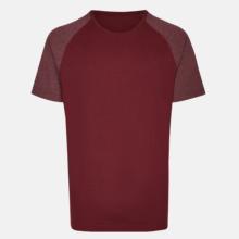 2-tonsfärgade t-shirts med reklamtryck