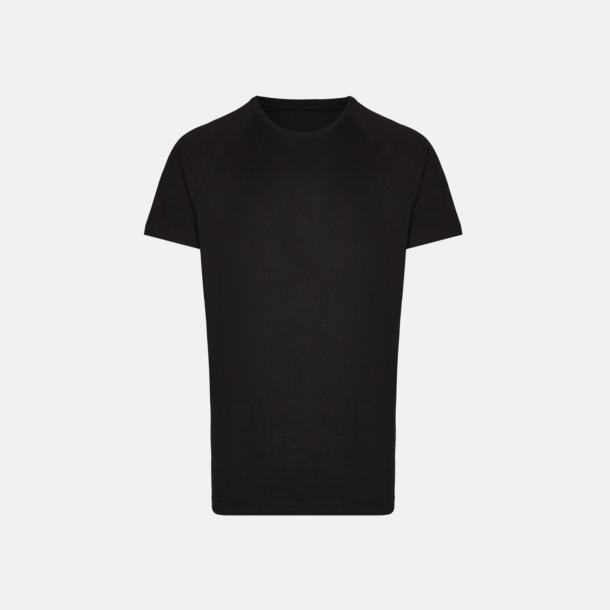 Svart Långa herr t-shirts med reklamtryck