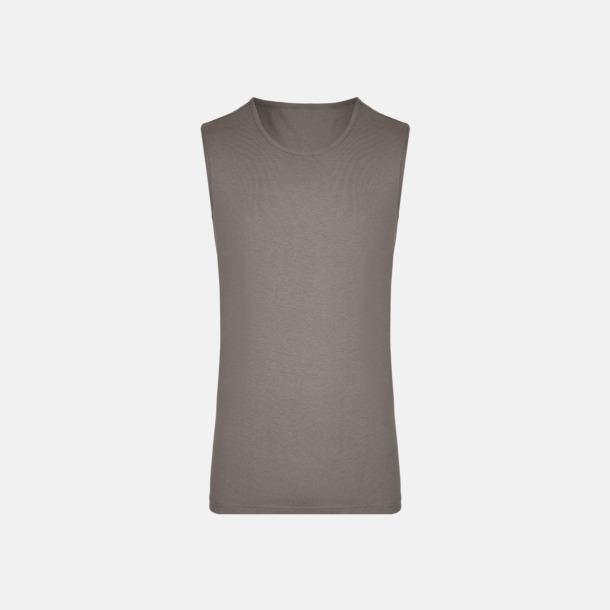 Grey Solid (herr) Moderna linnen för herr & dam - med reklamtryck