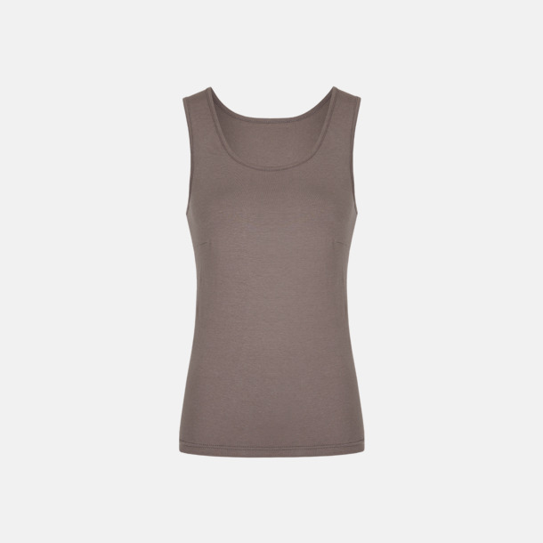 Grey Solid (dam) Moderna linnen för herr & dam - med reklamtryck