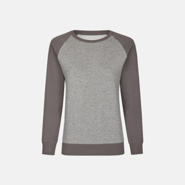 Heather Grey/Grey Solid (herr) 2-tonade tröjor med reklamtryck