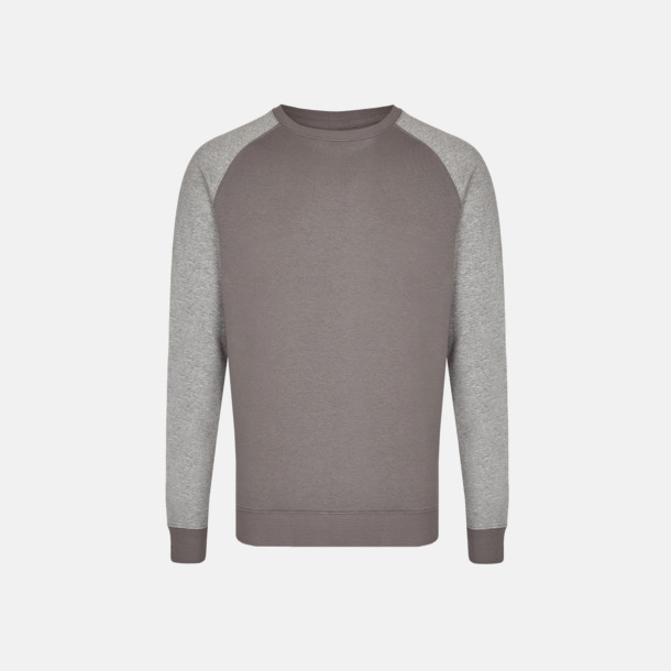 Grey Solid/Heather Grey (herr) 2-tonade tröjor med reklamtryck
