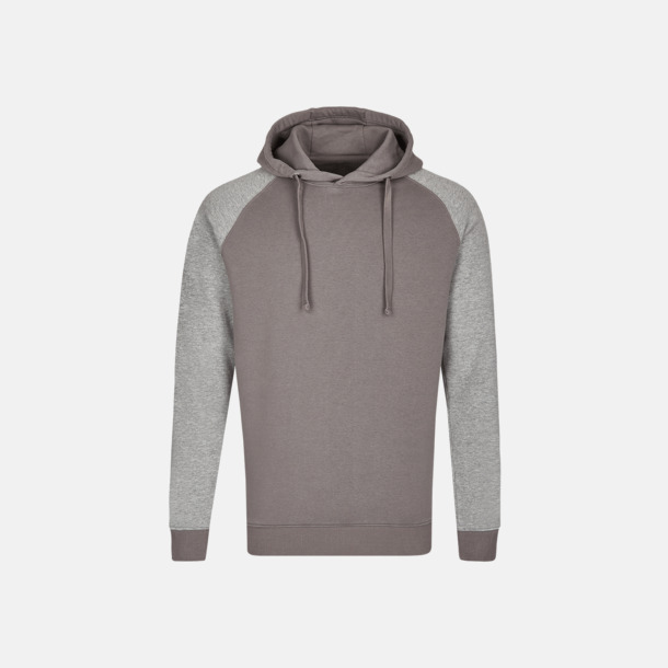 Grey Solid/Heather Grey (herr) Ficklösa huvtröjor med reklamtryck