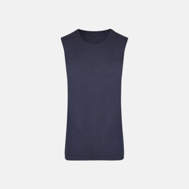 Marinblå (herr) Moderna linnen för herr & dam - med reklamtryck