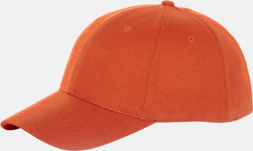 Orange Billiga, enfärgade kepsar med reklamlogo