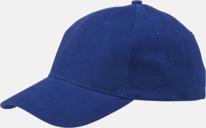 Blå Billiga, enfärgade kepsar med reklamlogo