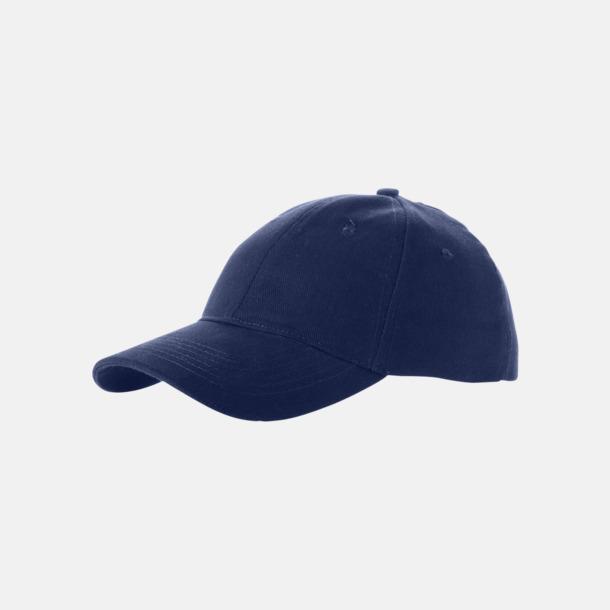 Marinblå Billiga, enfärgade kepsar med reklamlogo