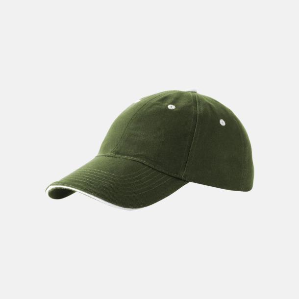 Army Green Sandwich kepsar med reklamlogo