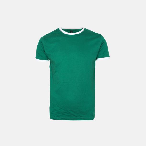 Ireland Green/Vit Herr t-shirts i spännande färgkombinationer med reklamtryck