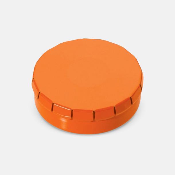 Orange Färgglada askar med mintgodis med reklamtryck