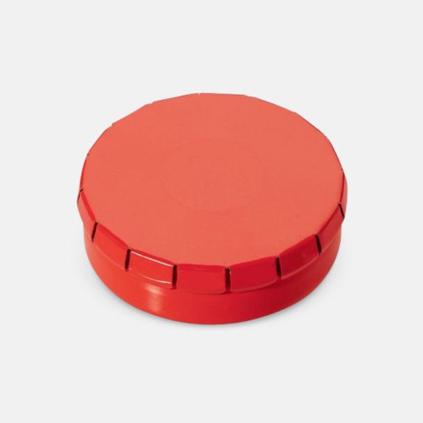 Röd Färgglada askar med mintgodis med reklamtryck