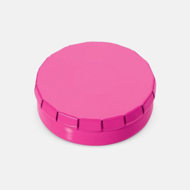 Rosa Färgglada askar med mintgodis med reklamtryck