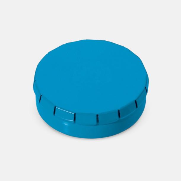 Ljusblå Färgglada askar med mintgodis med reklamtryck