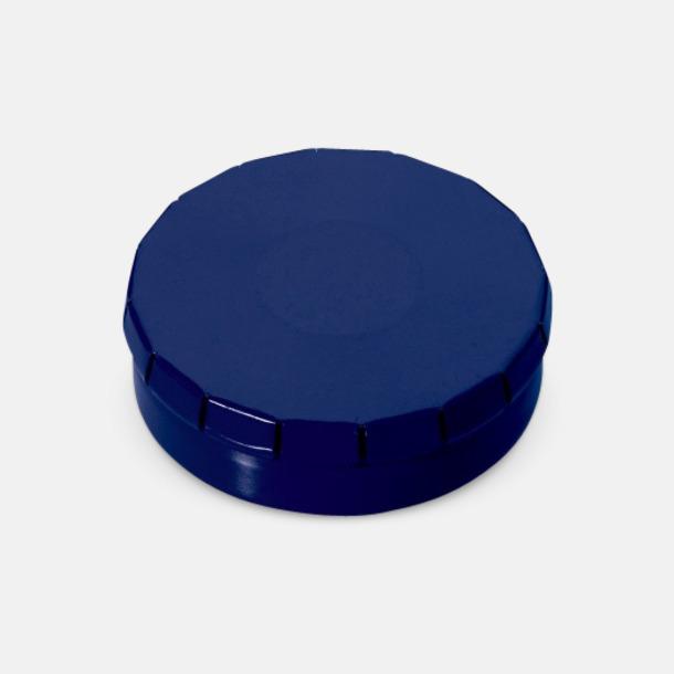 Blå Färgglada askar med mintgodis med reklamtryck