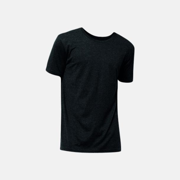 Black Melange Eko t-shirts i melerade färger med reklamtryck