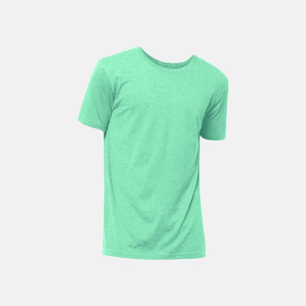 Green Turquoise Melange Eko t-shirts i melerade färger med reklamtryck