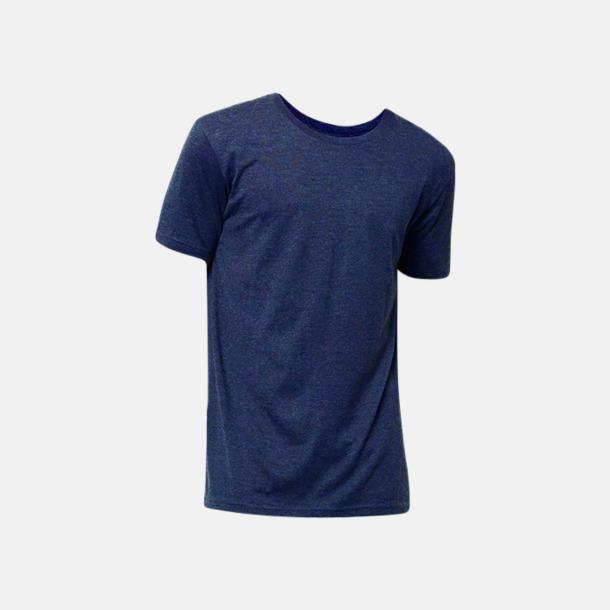 Navy Melange Eko t-shirts i melerade färger med reklamtryck