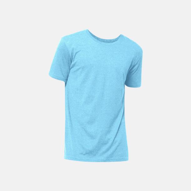 Sky Blue Melange Eko t-shirts i melerade färger med reklamtryck