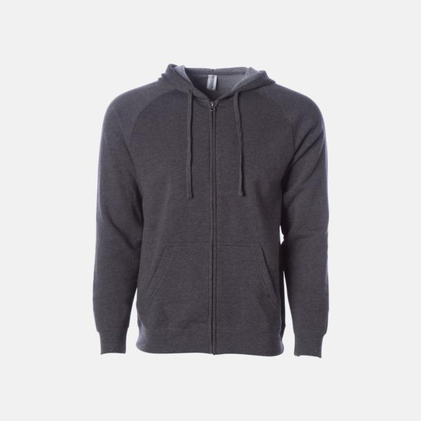Carbon Blixtlås hoodies i unisex med reklamtryck