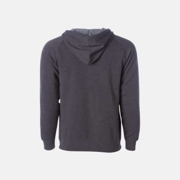 Blixtlås hoodies i unisex med reklamtryck