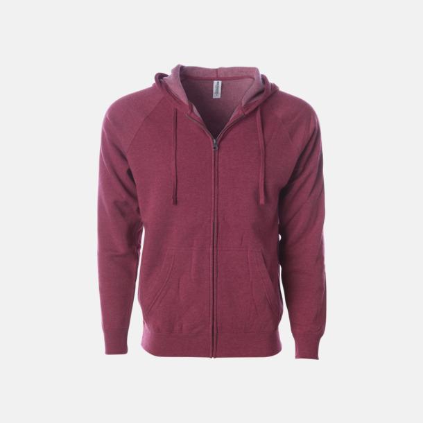 Crimson Blixtlås hoodies i unisex med reklamtryck