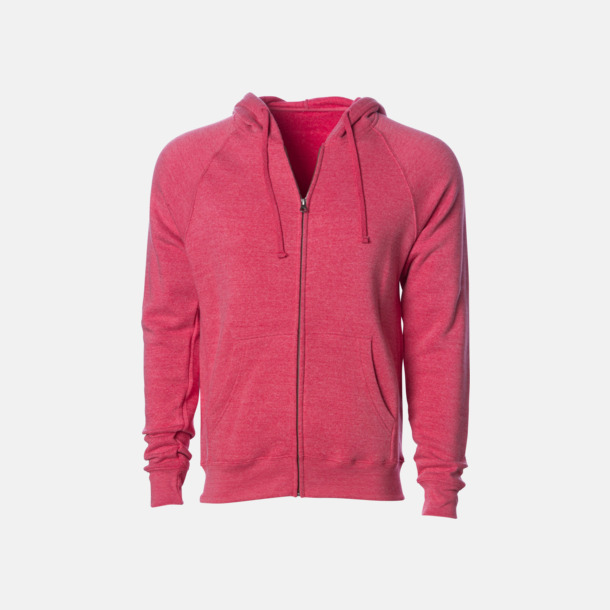Pomegranate Blixtlås hoodies i unisex med reklamtryck