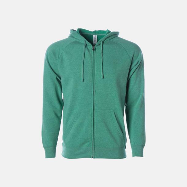 Sea Green Blixtlås hoodies i unisex med reklamtryck