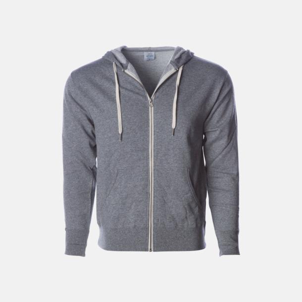 Salt-N-Pepper Blixtlås hoodies i frottébomull med reklamtryck