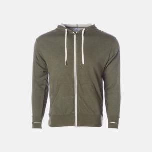 Blixtlås hoodies i frottébomull med reklamtryck