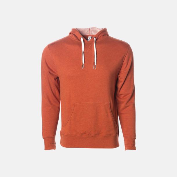 Burnt Orange Heather French terry hoodies med reklamtryck
