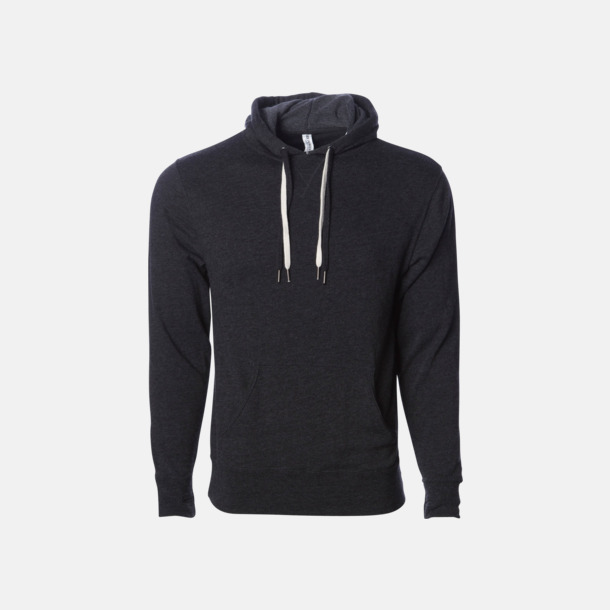 Charcoal Heather French terry hoodies med reklamtryck