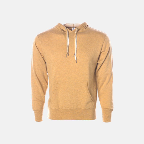 Golden Wheat Heather French terry hoodies med reklamtryck