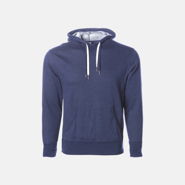 Navy Heather French terry hoodies med reklamtryck