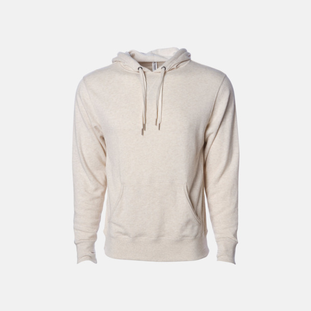 Oatmeal Heather French terry hoodies med reklamtryck