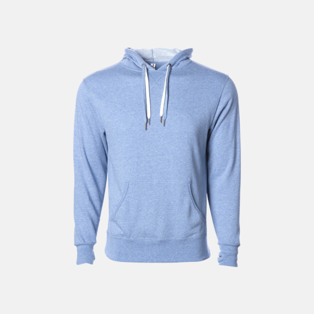Sky Heather French terry hoodies med reklamtryck