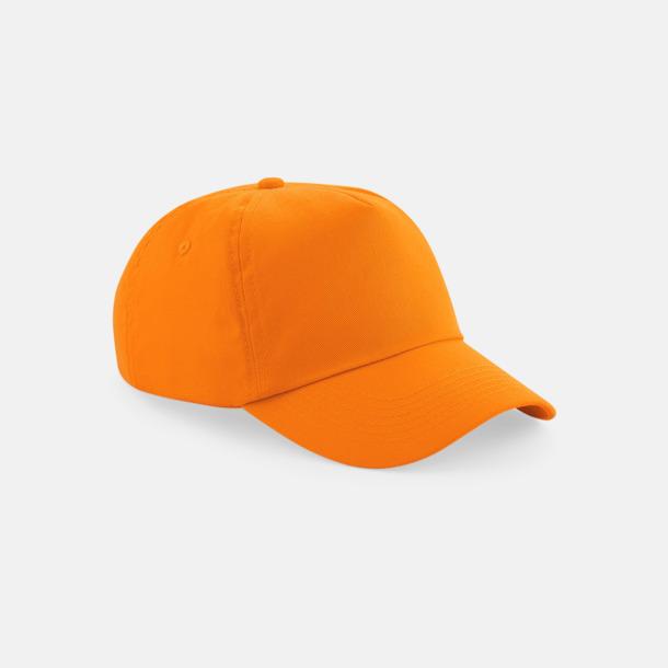 Orange (vuxen) Bomullskepsar för vuxna & barn - med reklamlogo