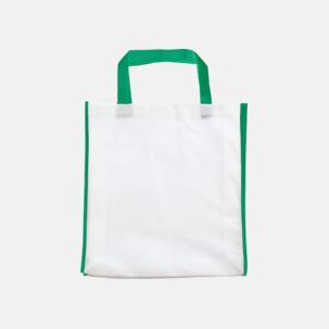 Kassar med kontrastfärg och korta handtag - med reklamtryck