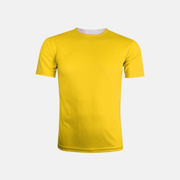 Gul (herr) Tränings t-shirts för herr, dam & barn - med reklamtryck