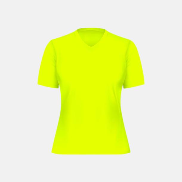 Neongul (dam) Tränings t-shirts för herr, dam & barn - med reklamtryck