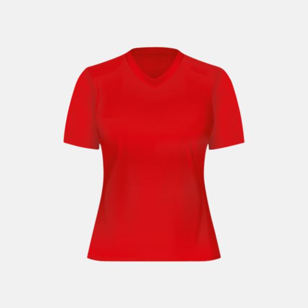 Röd (dam) Tränings t-shirts för herr, dam & barn - med reklamtryck