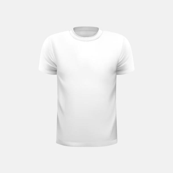 Vit (barn) Tränings t-shirts för herr, dam & barn - med reklamtryck