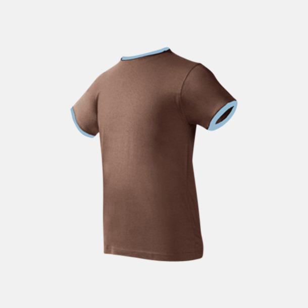 Chocolate/Sky Herr t-shirts i spännande färgkombinationer med reklamtryck