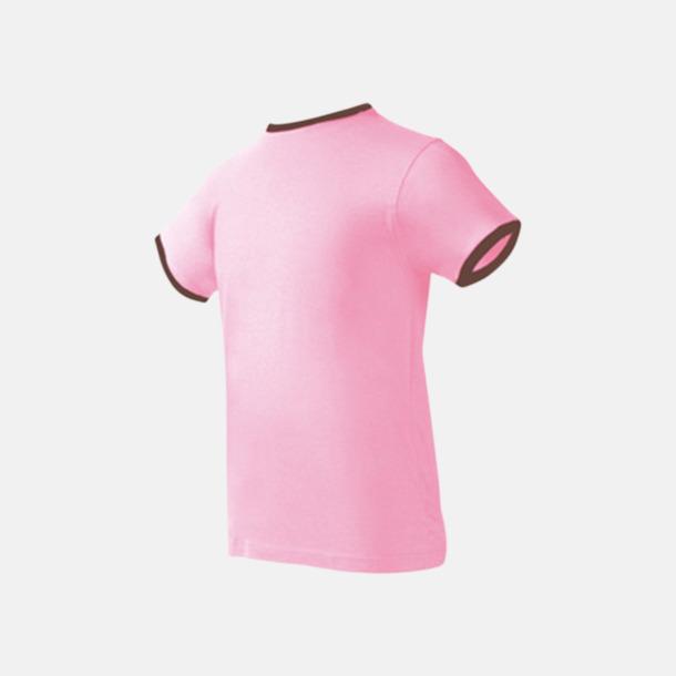 Rosa/Chocolate Herr t-shirts i spännande färgkombinationer med reklamtryck