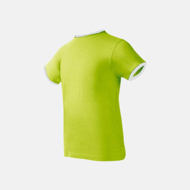 Pistachio/Vit Herr t-shirts i spännande färgkombinationer med reklamtryck