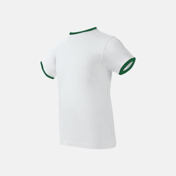 Vit/Ireland Green Herr t-shirts i spännande färgkombinationer med reklamtryck