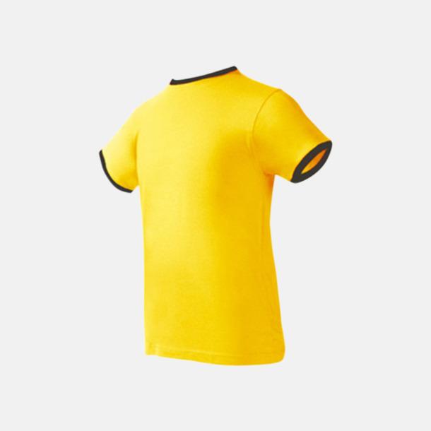 Gul / Svart Herr t-shirts i spännande färgkombinationer med reklamtryck